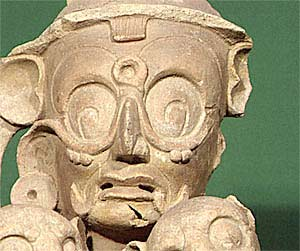 Jaguar God of the Underworld, the Night Sun, one of the major characters of the Maya pantheon.