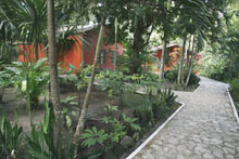 Hotel Jungle Lodge Garden 2 Peten Guatemala Maya Archaeology
