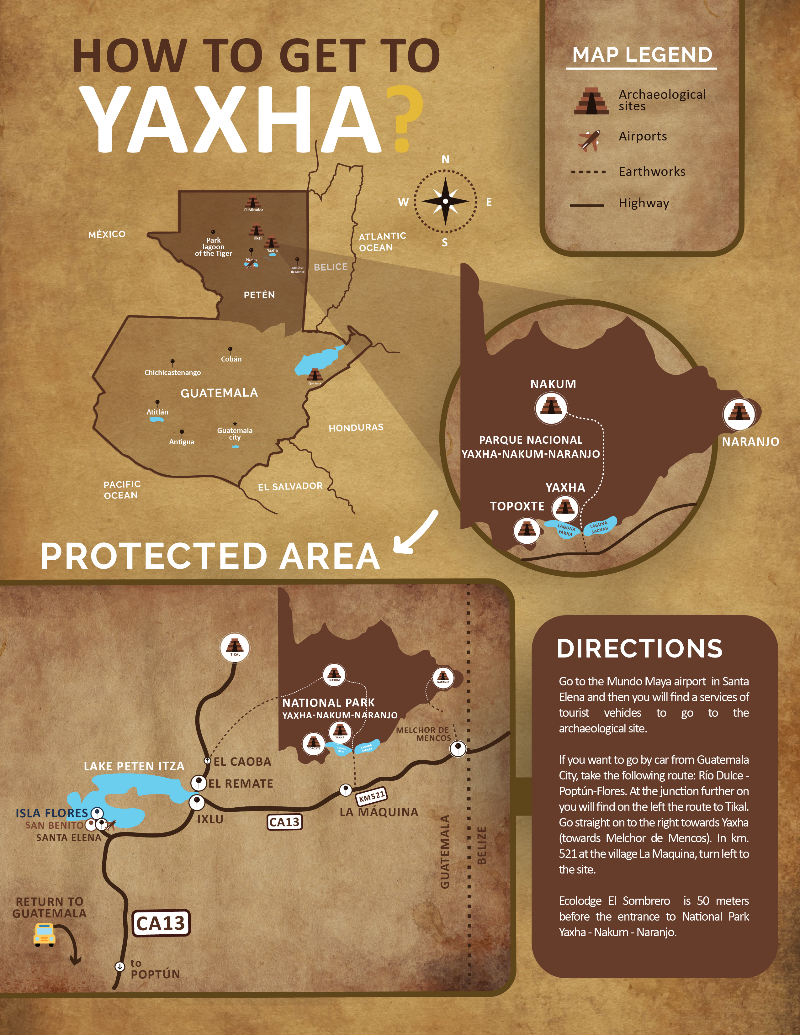 How to get to Yaxha