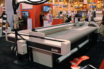Zund Cutter at SGIA 2009