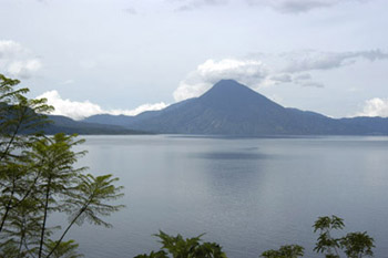 Landscape Lake Atitlan from San Tomas Bella Vista Hotel