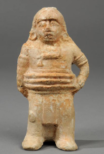 maya ball player figurine