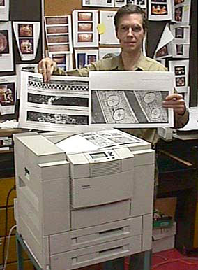 Dr. Hellmuth with printer